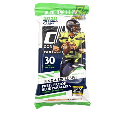 2020 Panini Donruss NFL Fat Pack - 30 Cards