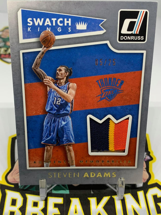 #S19 15-16 Steven Adams Game Worn 3 Colour Patch / 25 Swatch Kings Donruss