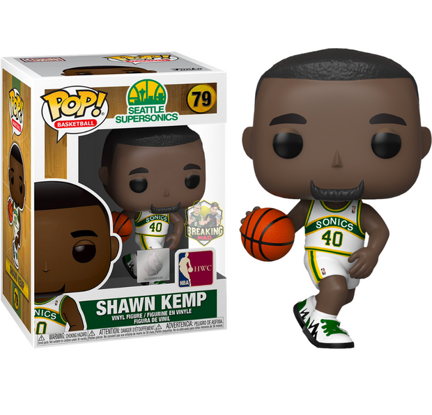 NBA Basketball - Shawn Kemp Seattle Supersonics Pop! Vinyl Figure