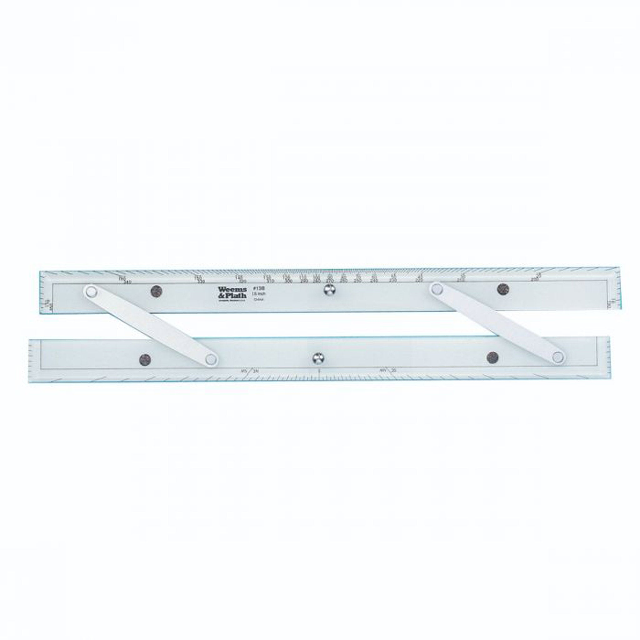 Weems & Plath Parallel Ruler with Brushed Aluminium Arms