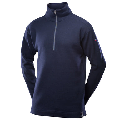 Devold Blaatrøie Zip Neck Sweater - Arthur Beale