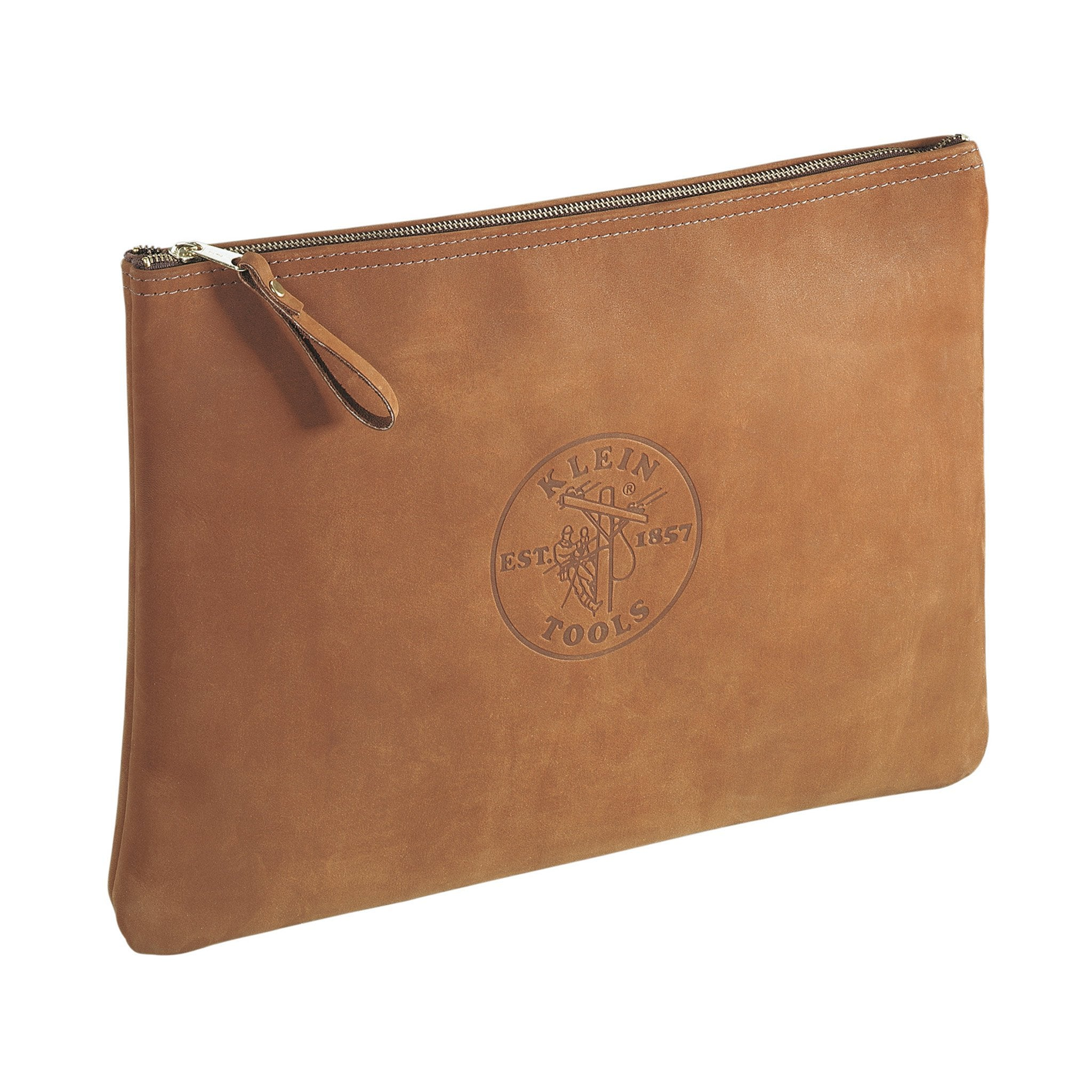 Klein Leather Zipper Bag Portfolio Size - Arthur Beale