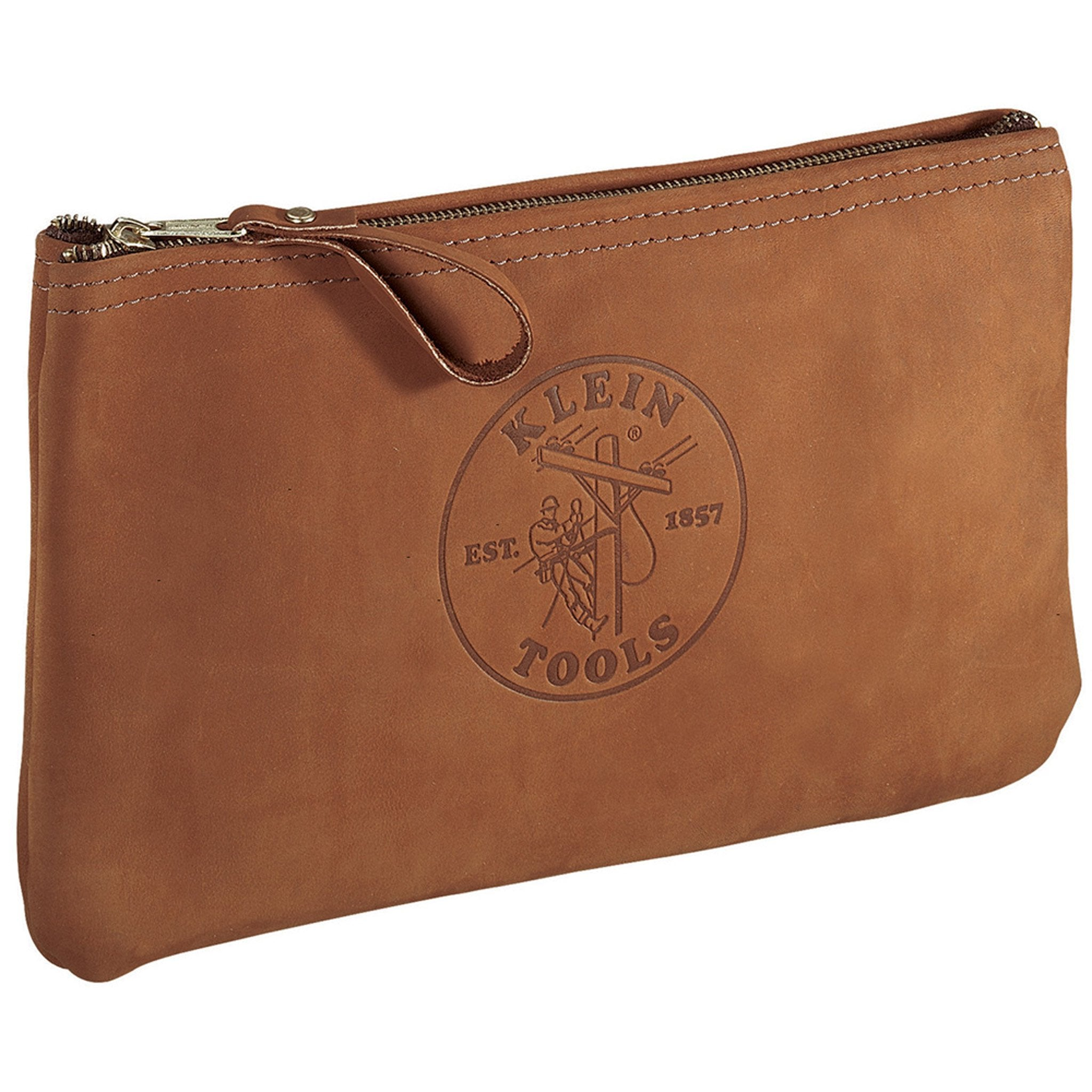 Klein Leather Zipper Bag Small Size - Arthur Beale