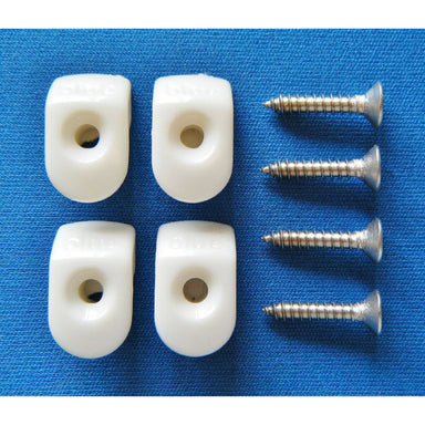 White Hooks/Screws (Pack of 4) - Arthur Beale