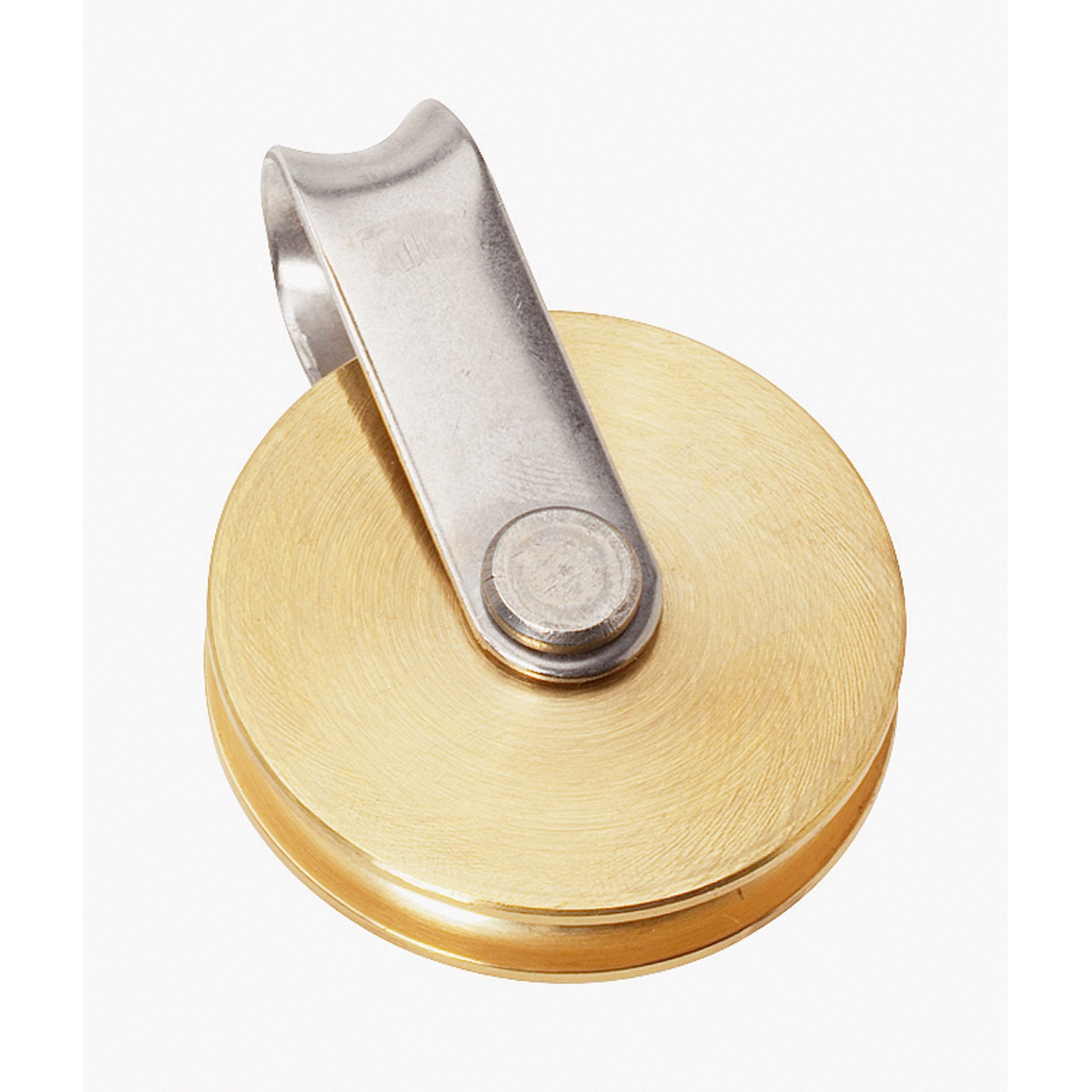 Barton Single fixed Eye Brass Sheave Block - Arthur Beale