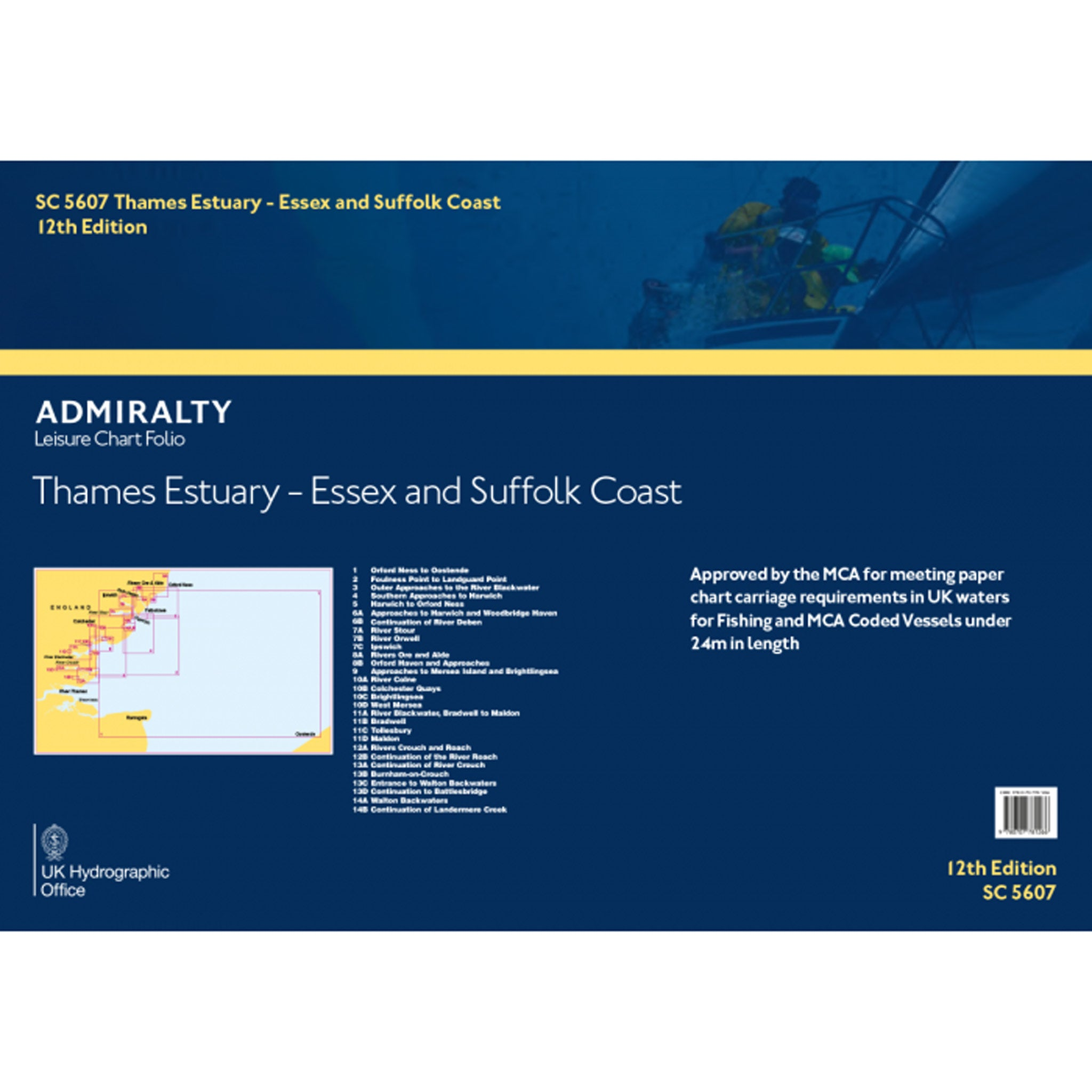 Admiralty Small Craft Folio SC5607 Thames Estuary, Essex and Suffolk Coasts