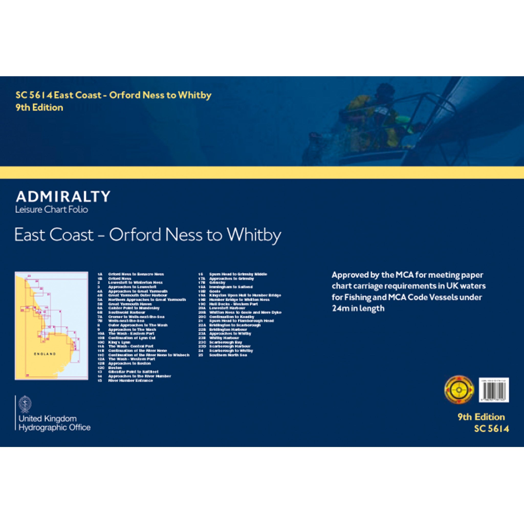 Admiralty Small Craft Folio SC5614 England - East Coast  - Orford Ness to Whitby