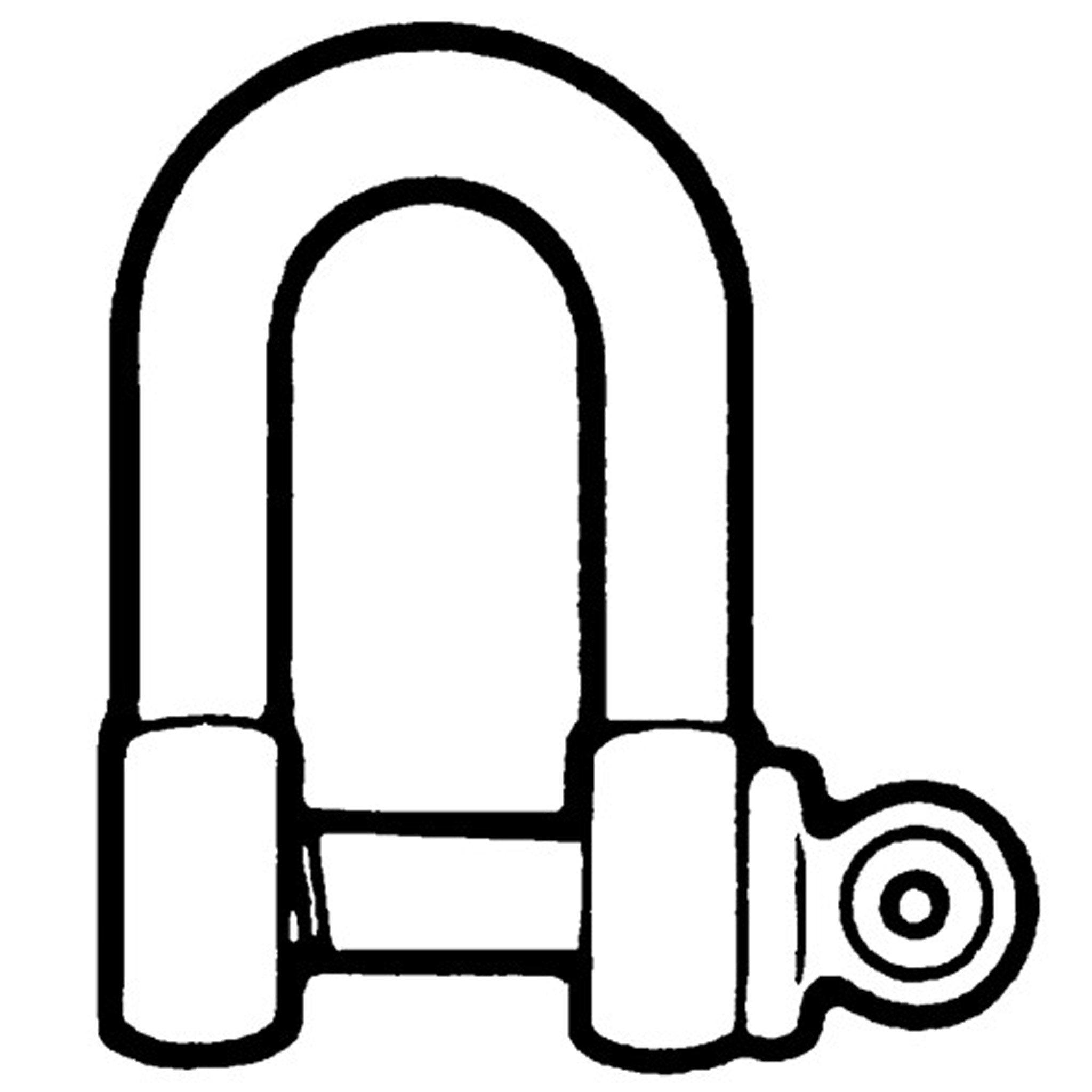 Commercial D Shackle - Galvanised - Arthur Beale