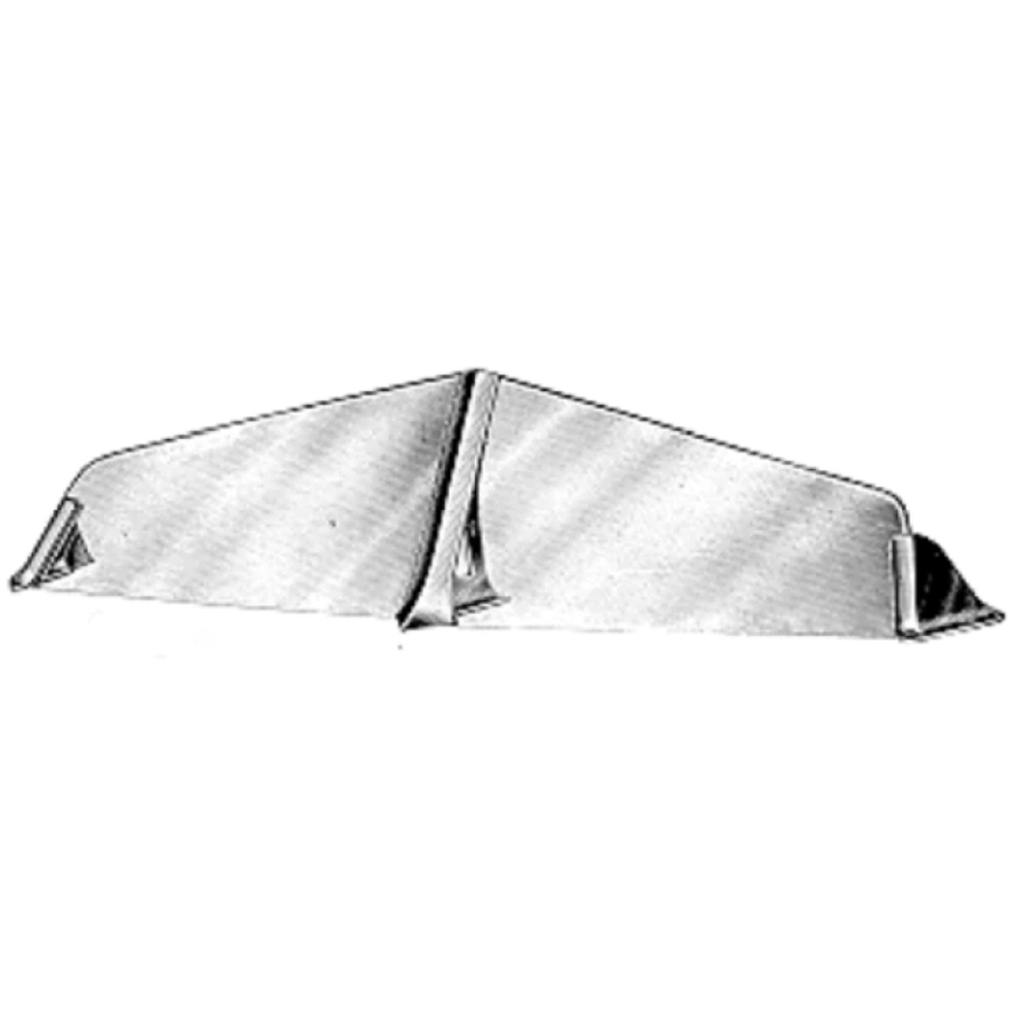 "Davey Windscreen Fittings Chrome 11 1/2"" - Arthur Beale"
