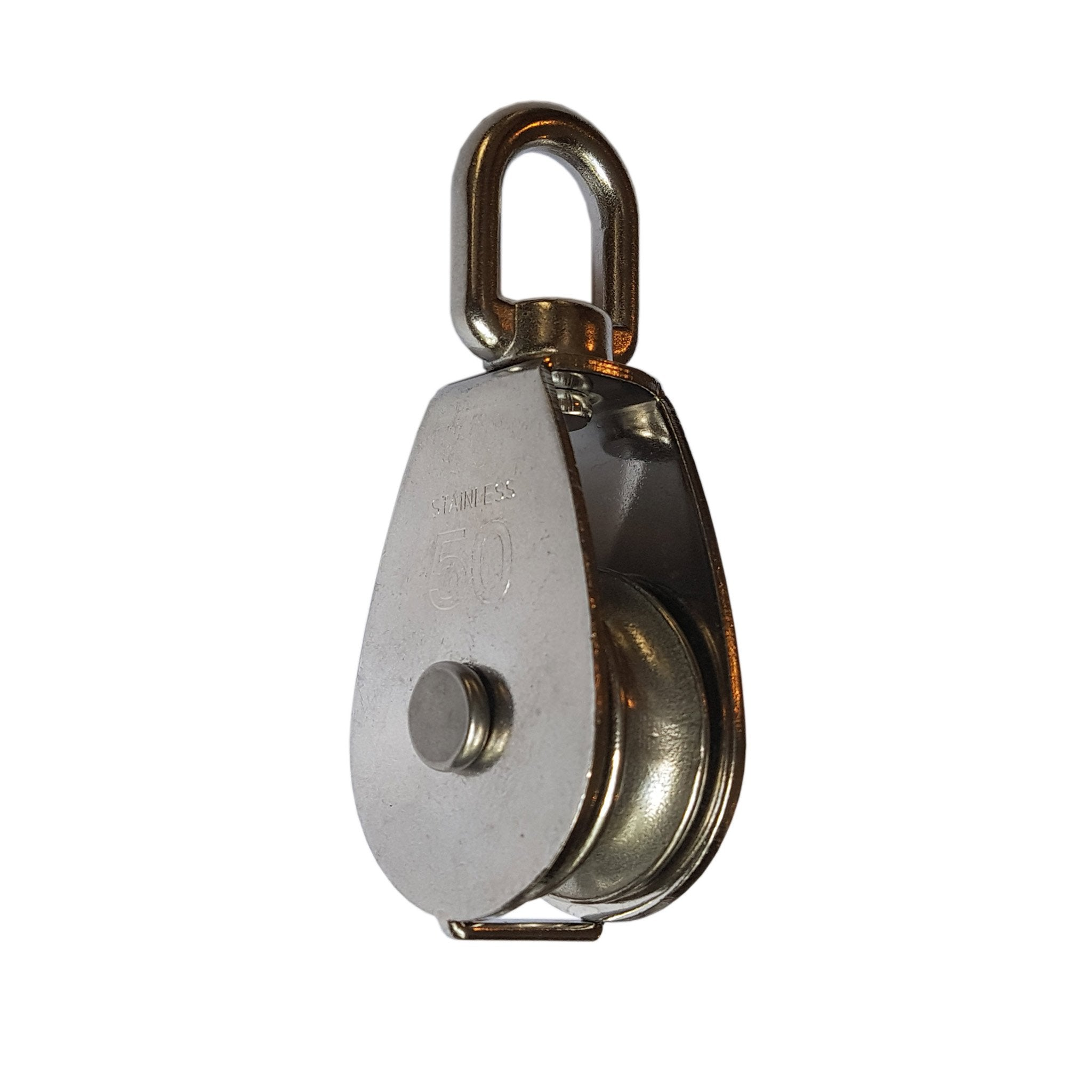 Single Pulley Sheave with Swivel Eye - Stainless Steel - Arthur Beale