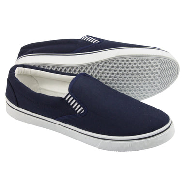 Yachtmaster Slip-on Canvas Deck Shoe - Arthur Beale