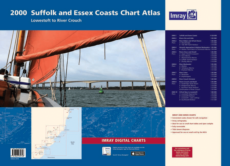 Imray Folio 2000 Suffolk and Essex Chart Atlas - Arthur Beale