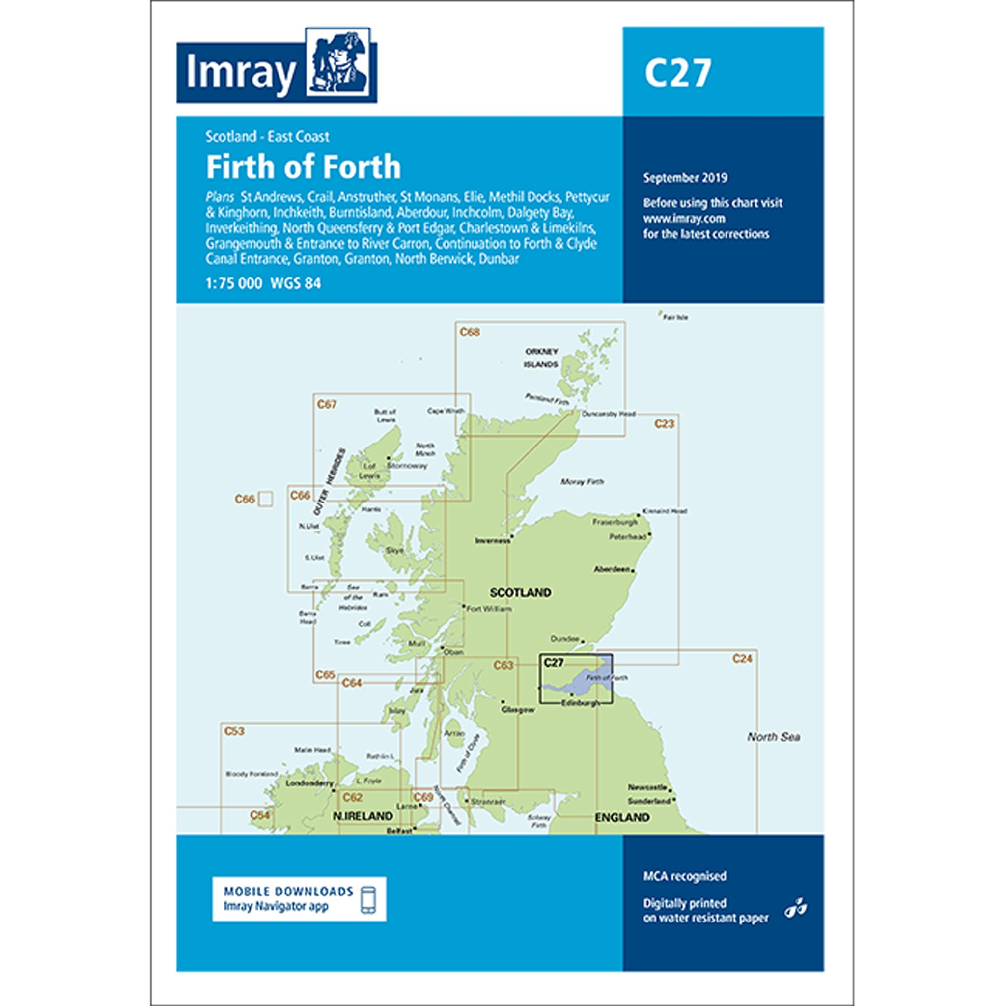 Imray Chart C27 Firth of Forth
