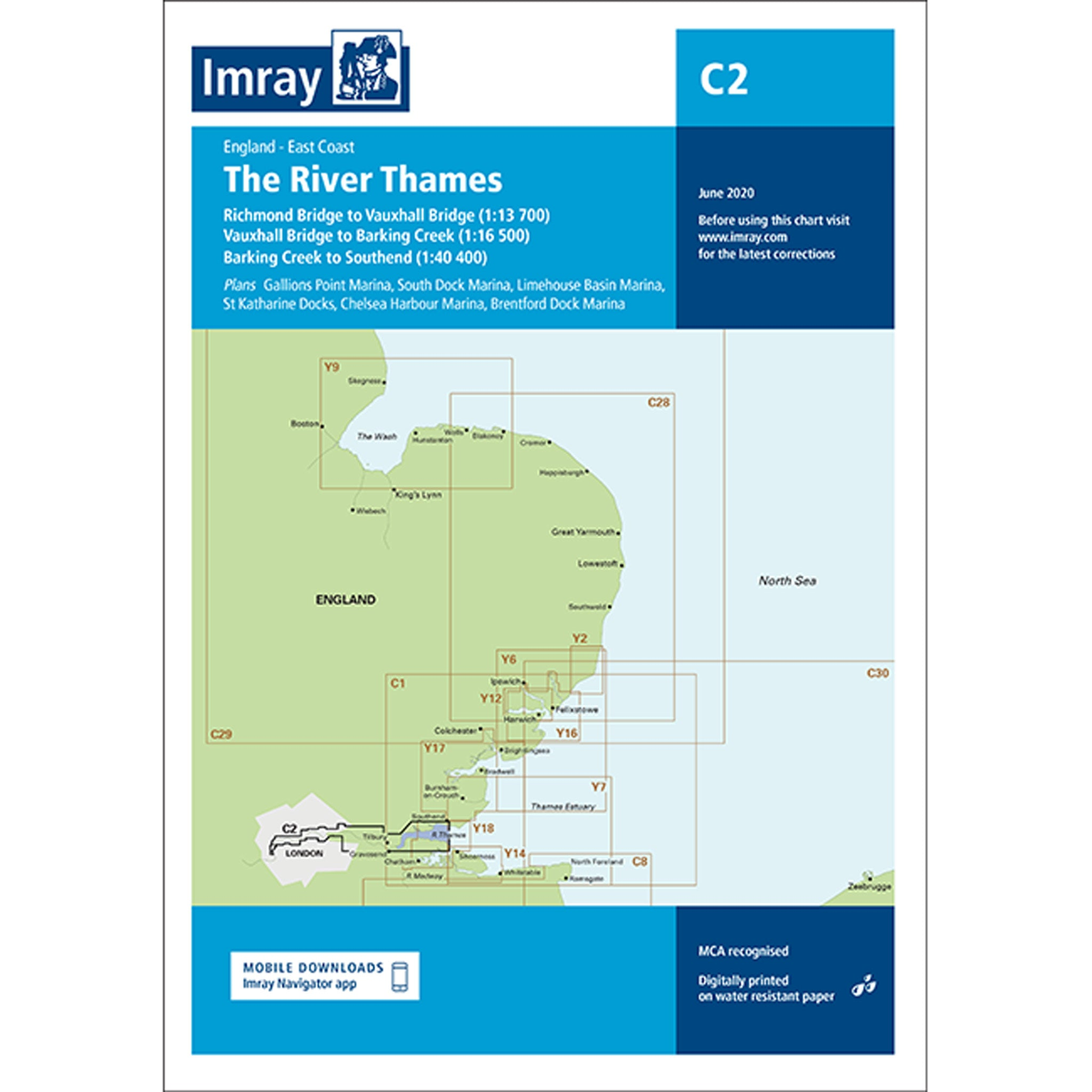 Imray Chart C2 The River Thames