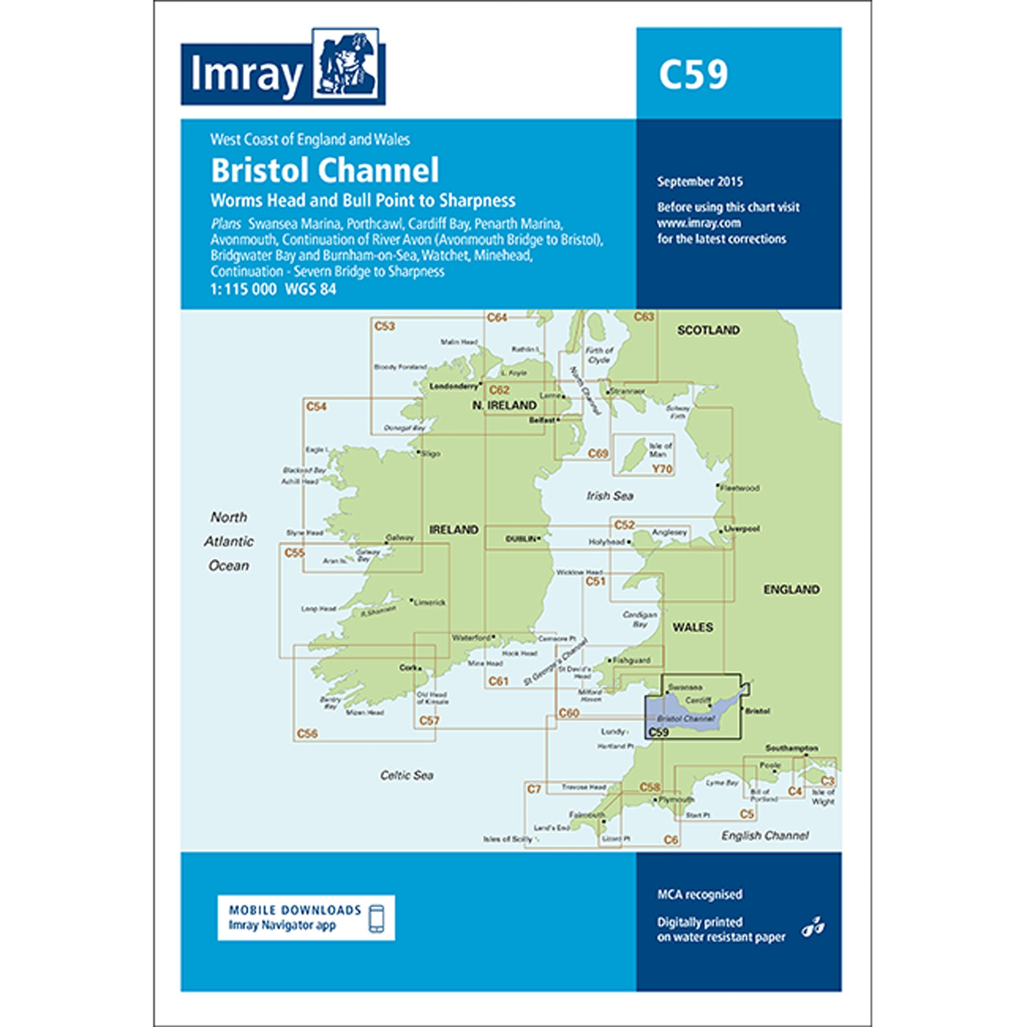 Imray Chart C59 Bristol Channel