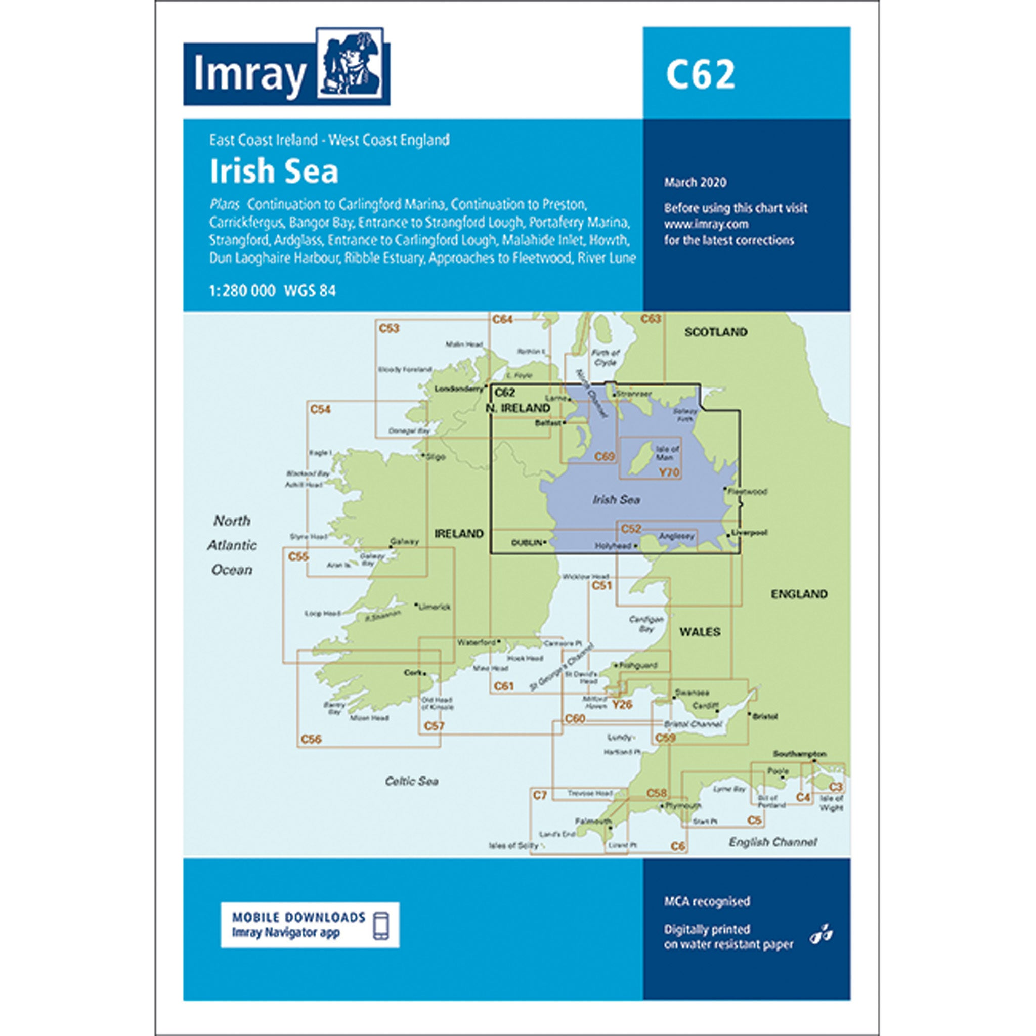 Imray Chart C62 Irish Sea