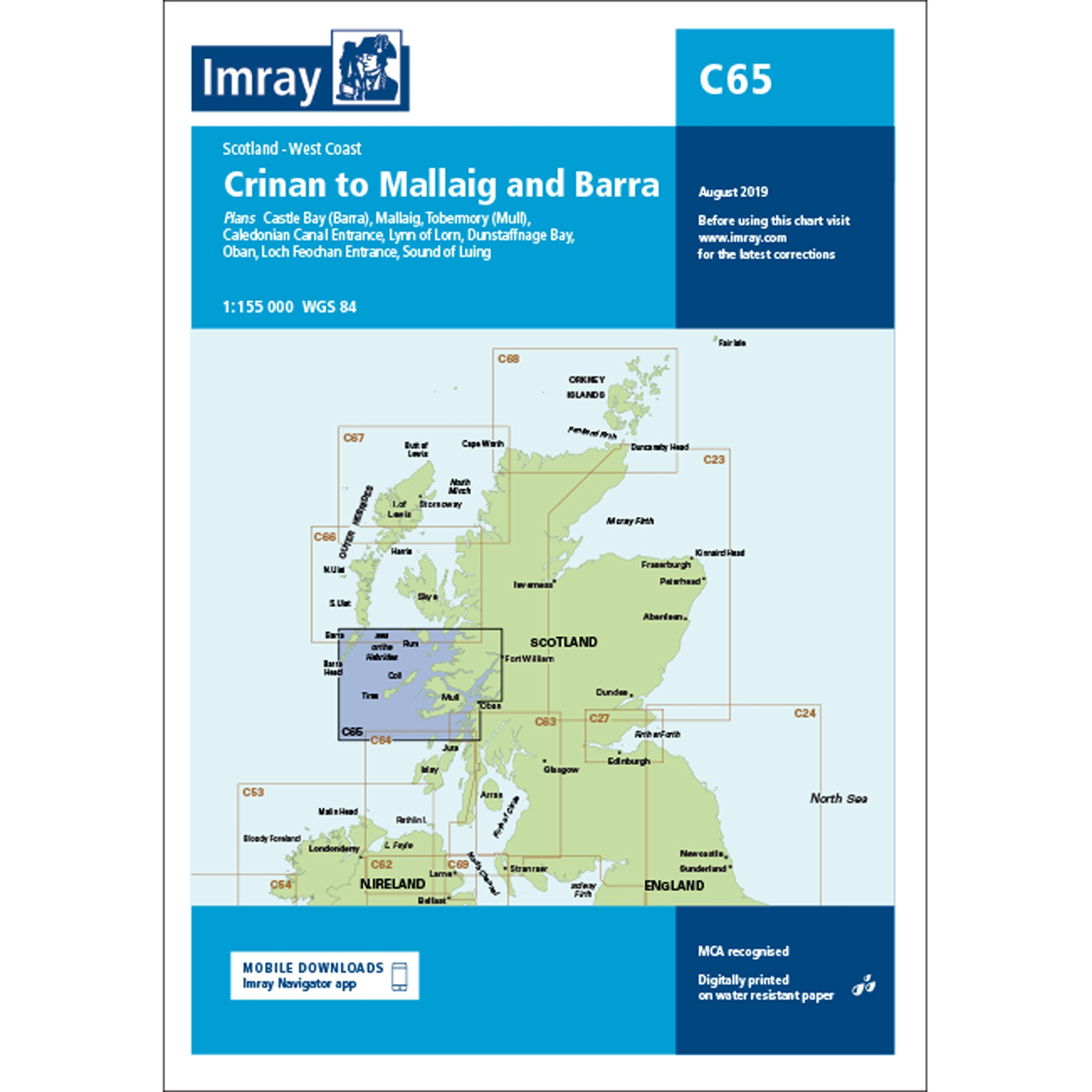Imray Chart C65 Crinan to Mallaig and Barra