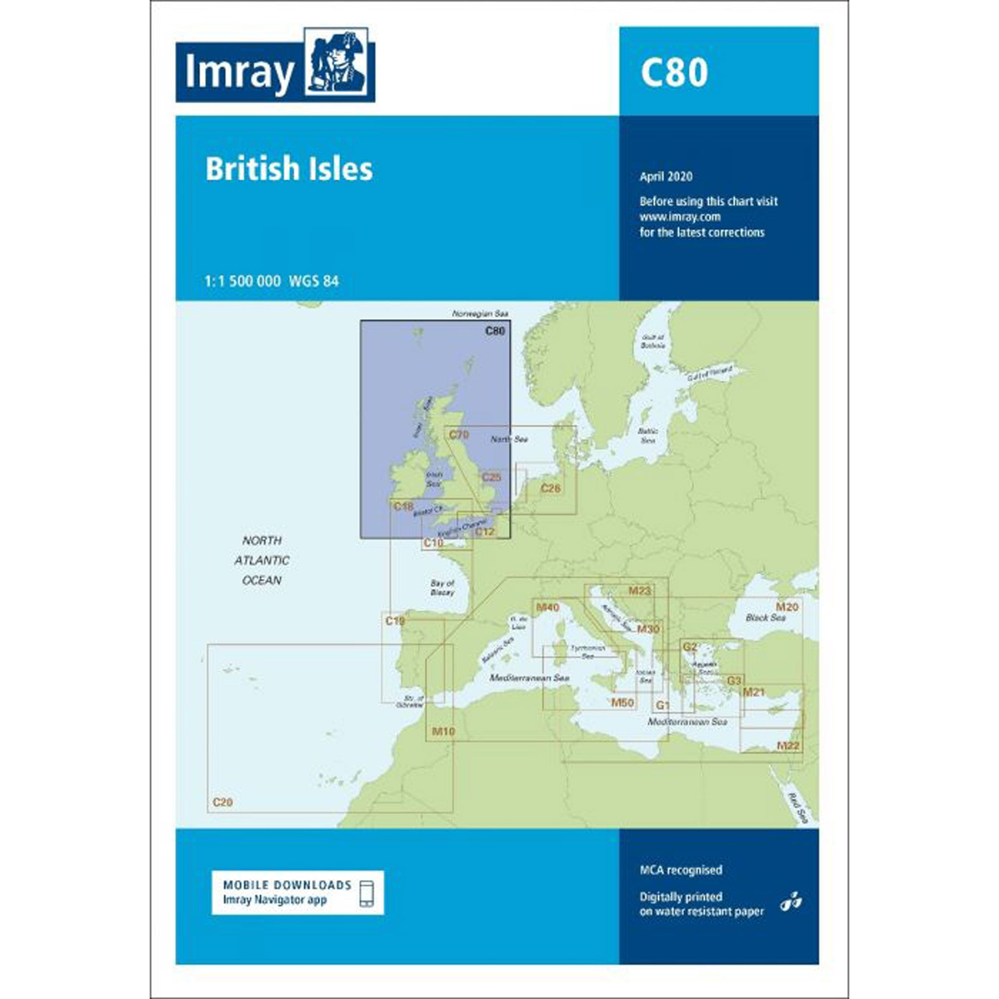 Imray Chart C80 British Isles