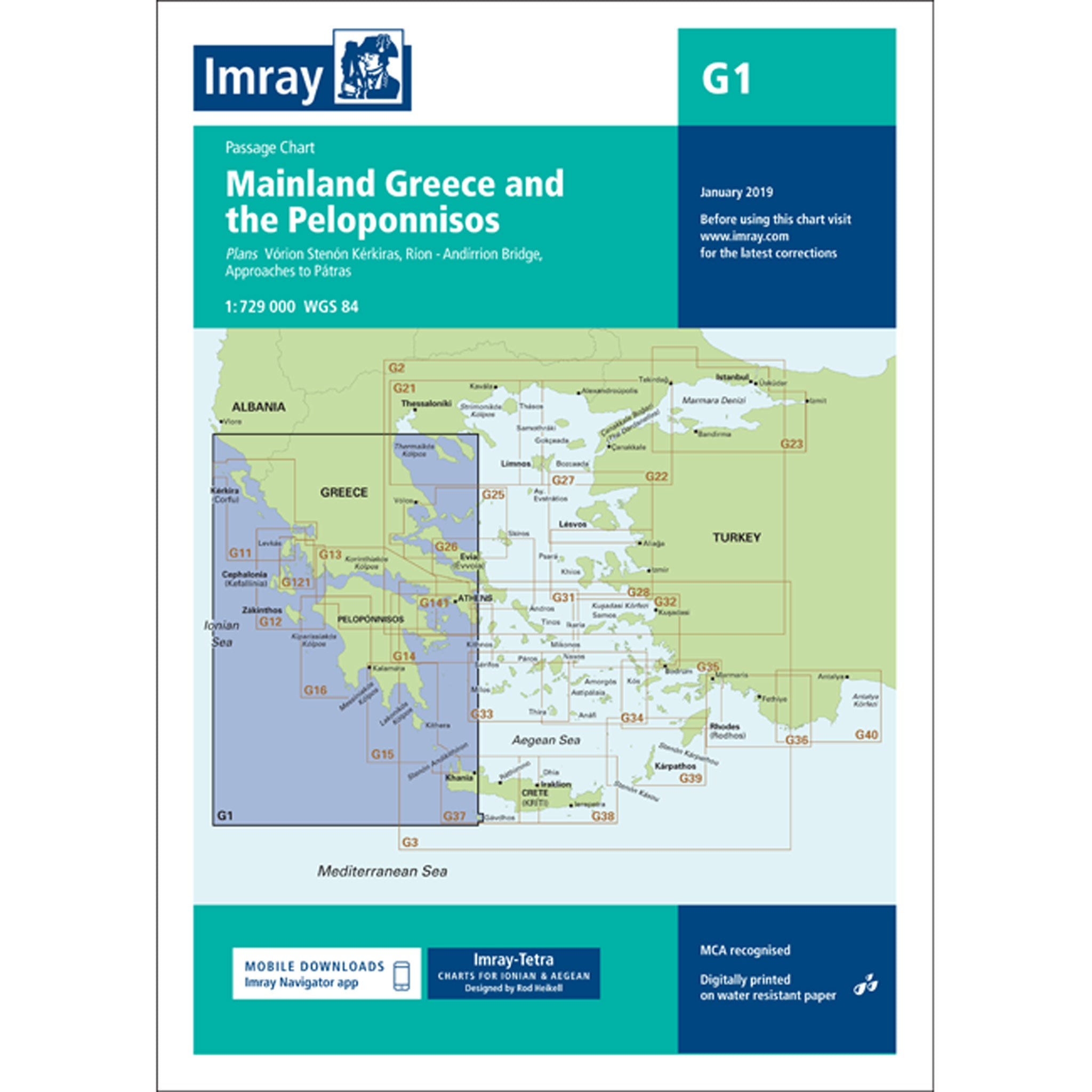 Imray Chart G1 - Greece and Peloponissos