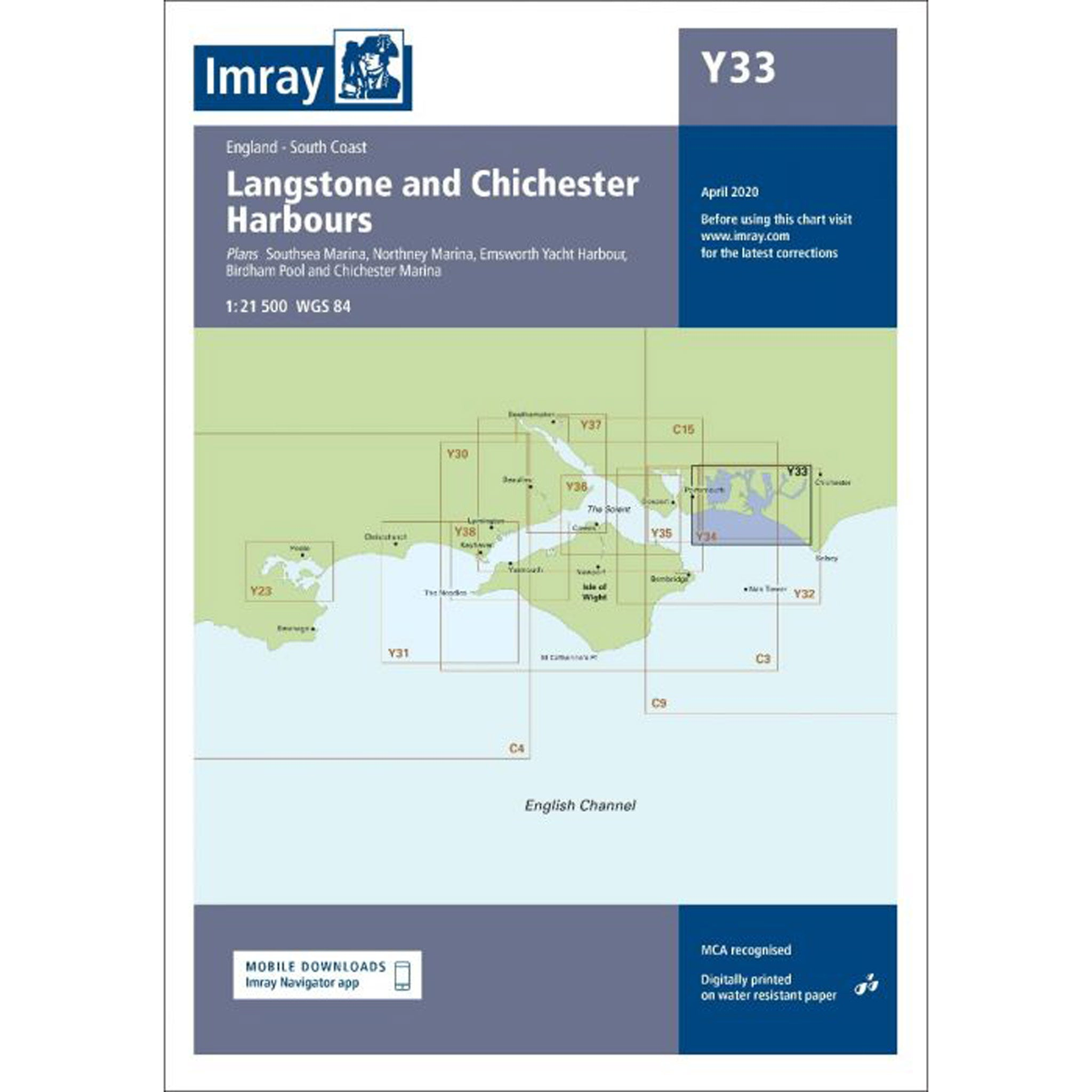 Imray Y33 Langstone and Chichester Harbour