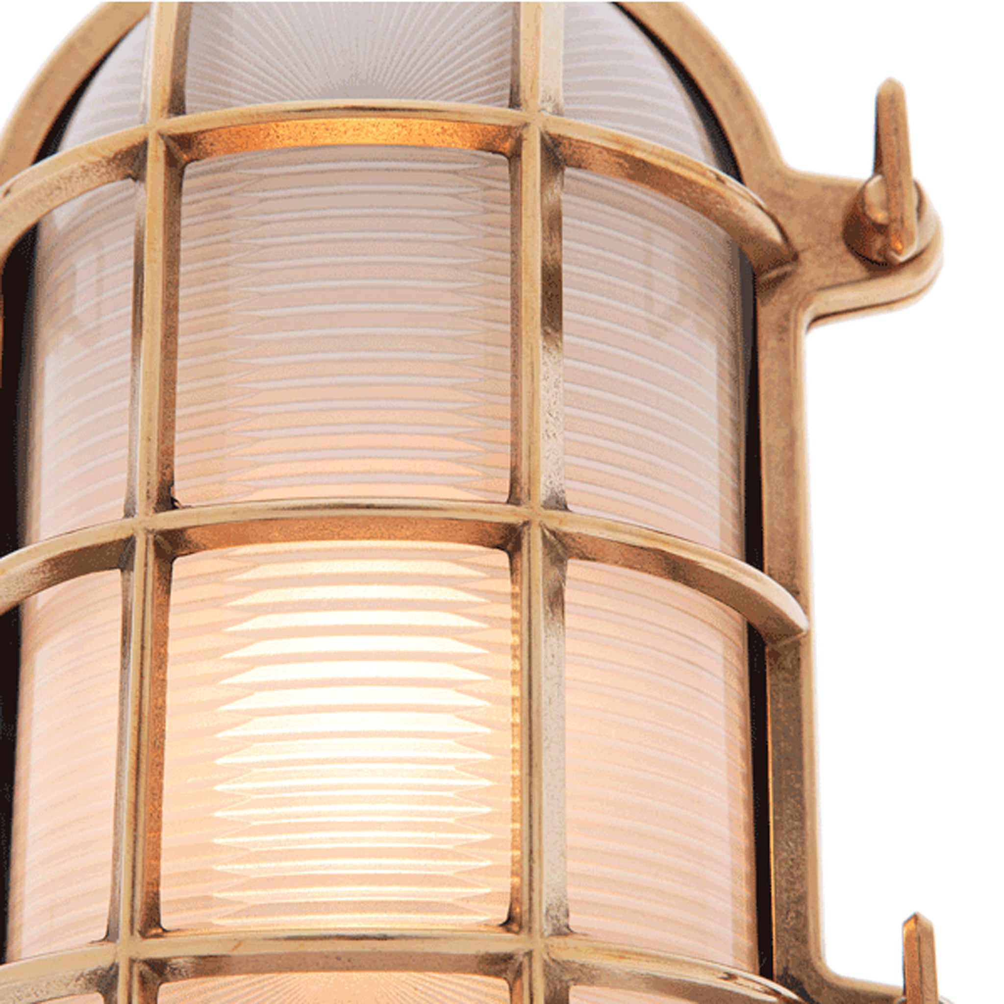 Large Oval Bulkhead Light - 235 mm length