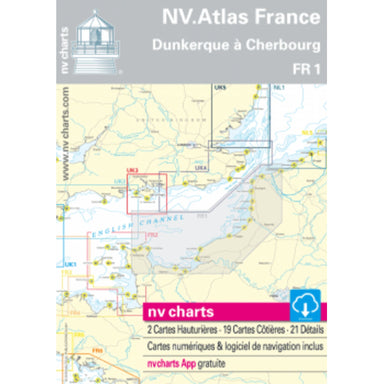 NV Atlas Chart: FR1 Ostend to Cherbourg - Arthur Beale