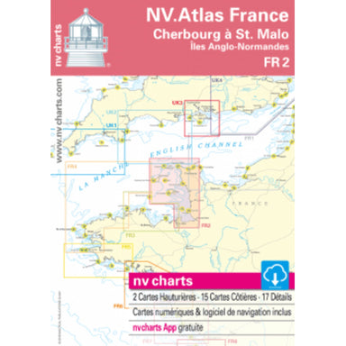 NV Atlas Chart: FR2 Cherbourg to St. Malo - Arthur Beale