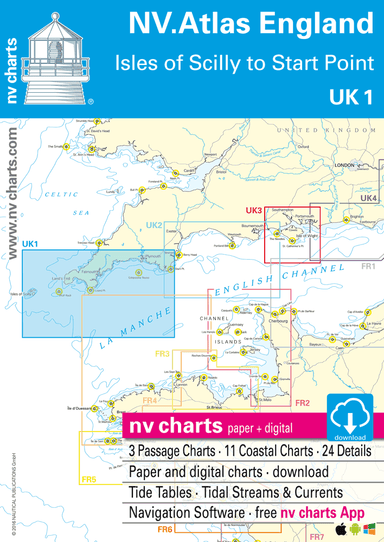 NV Atlas Chart: UK1 Isles of Scilly to Start Point - Arthur Beale