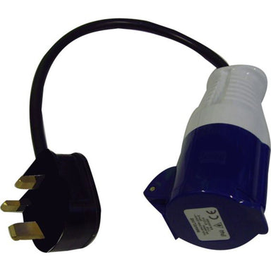 UK Hookup Adapter Ind Plug 16A 250VAC to 3-Pin plug - Arthur Beale