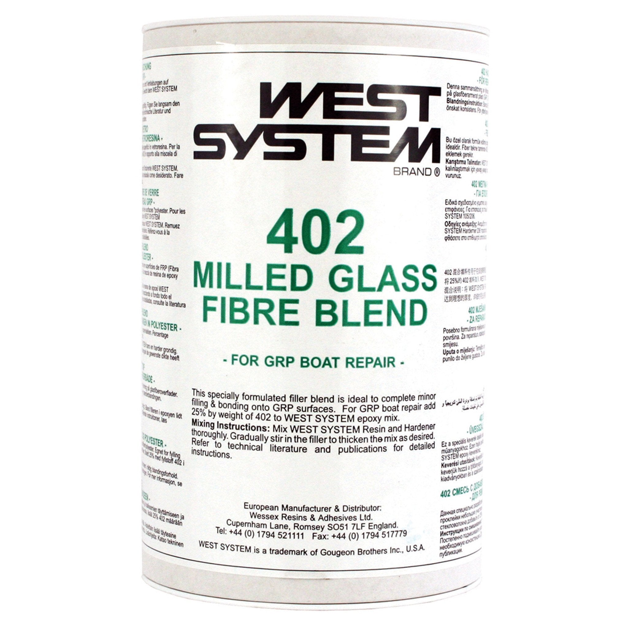 West System 402 Milled Glass Fibre Blend - Arthur Beale