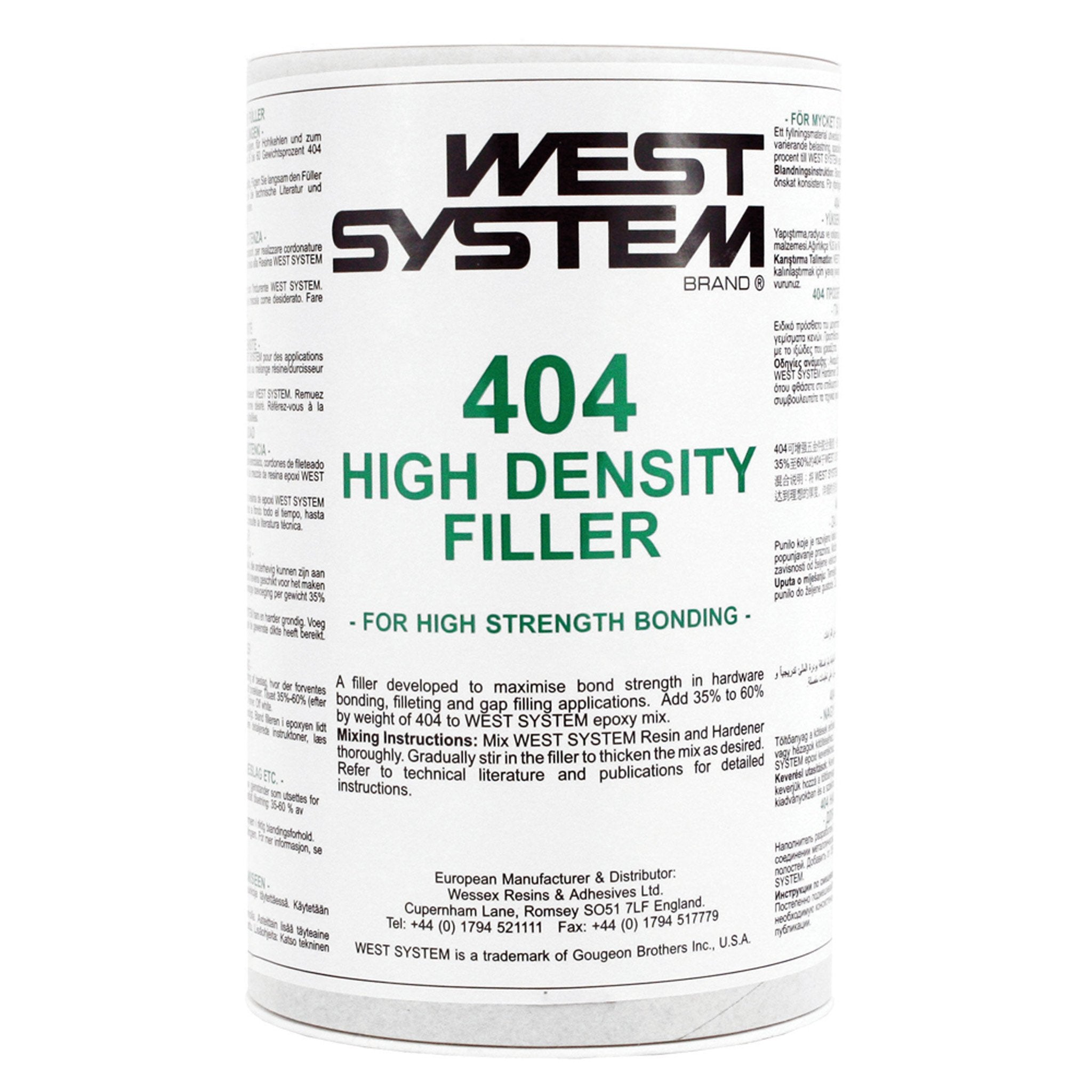 West System 404 High Density Filler - Arthur Beale
