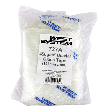 West System 727 Biaxial Glass Tape 450g 125mm x 5m - Arthur Beale
