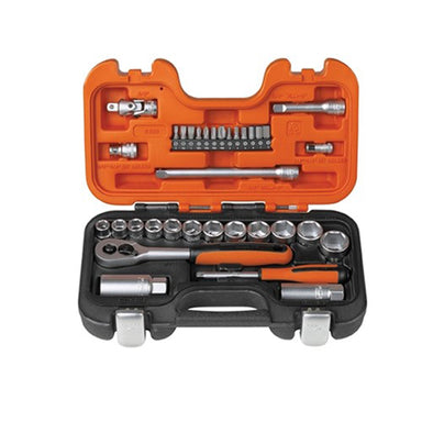 "Bahco Socket Set 1/4"" 3/8"" 34 Piece - Arthur Beale"