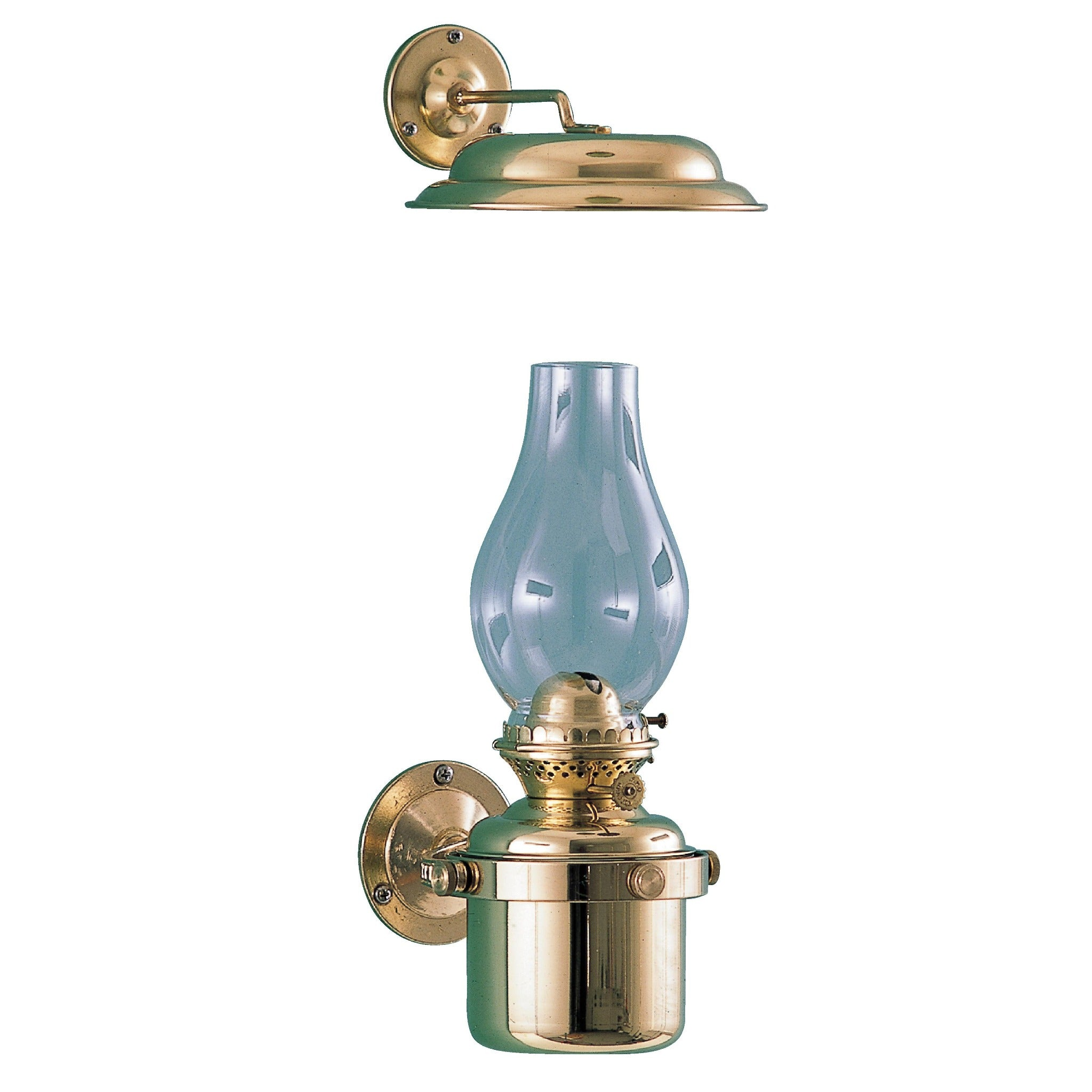"Gimbal Brass Lamp with 1"" Wick"