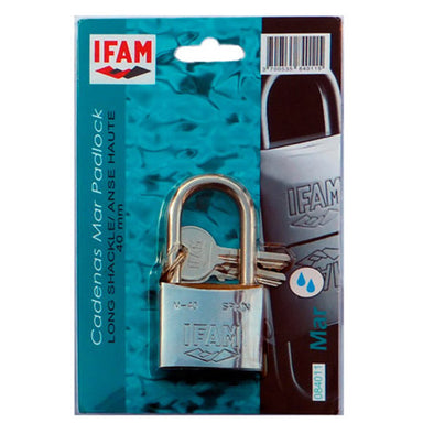 Marine Padlock AISI 316 ISO 3768 w/long shackle 40mm - Arthur Beale