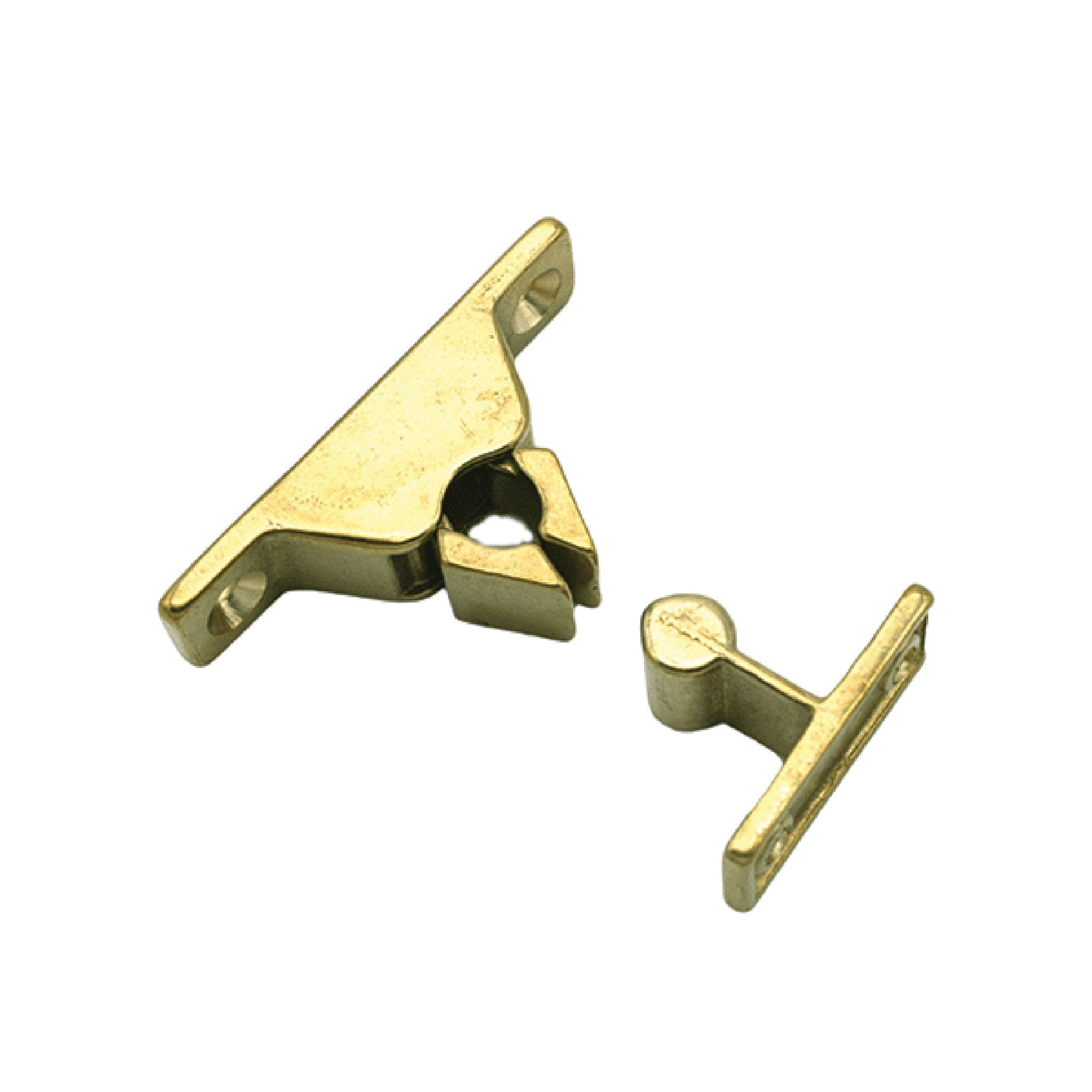 Spring Loaded Door Holder Brass - Arthur Beale
