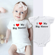 Load image into Gallery viewer, I Love My Big Sister Printed Newborn Cotton Romper