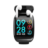 Smart Watch With Bluetooth Wireless Earphone