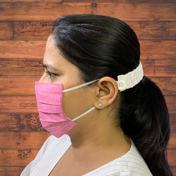 Pure Cotton Solid Masks - Pack of 4