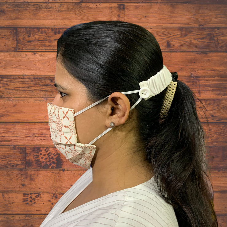 Jaipuri Hand Block Face Masks - Set of 3
