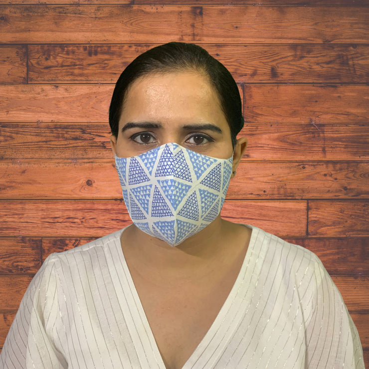 Cool Blue Face Masks - Pack of 3