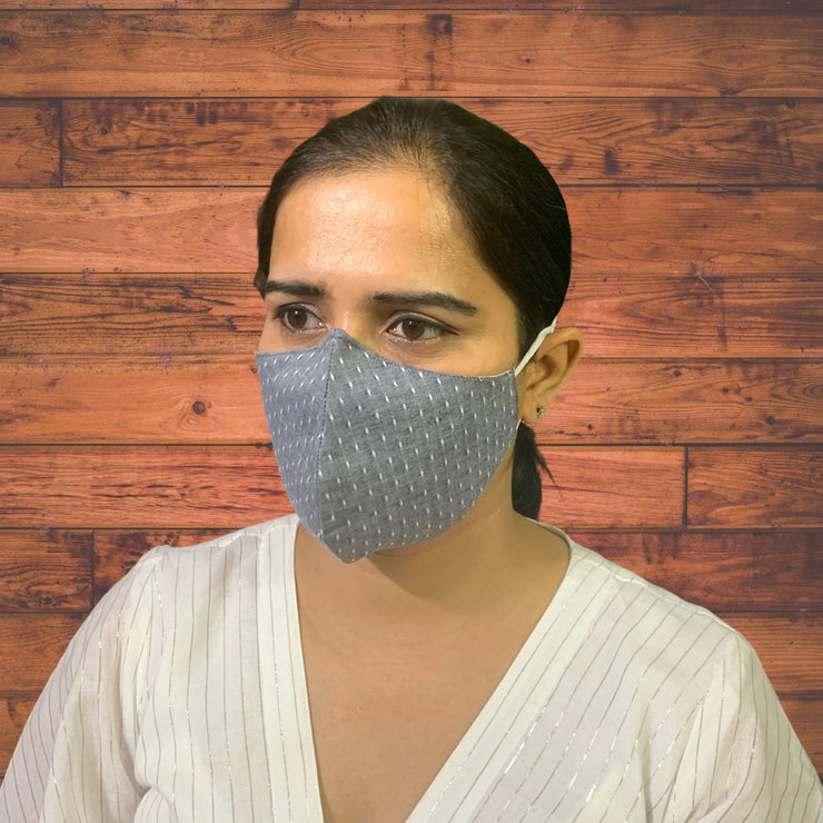 Charcoal Grey Face Masks  - Pack of 2