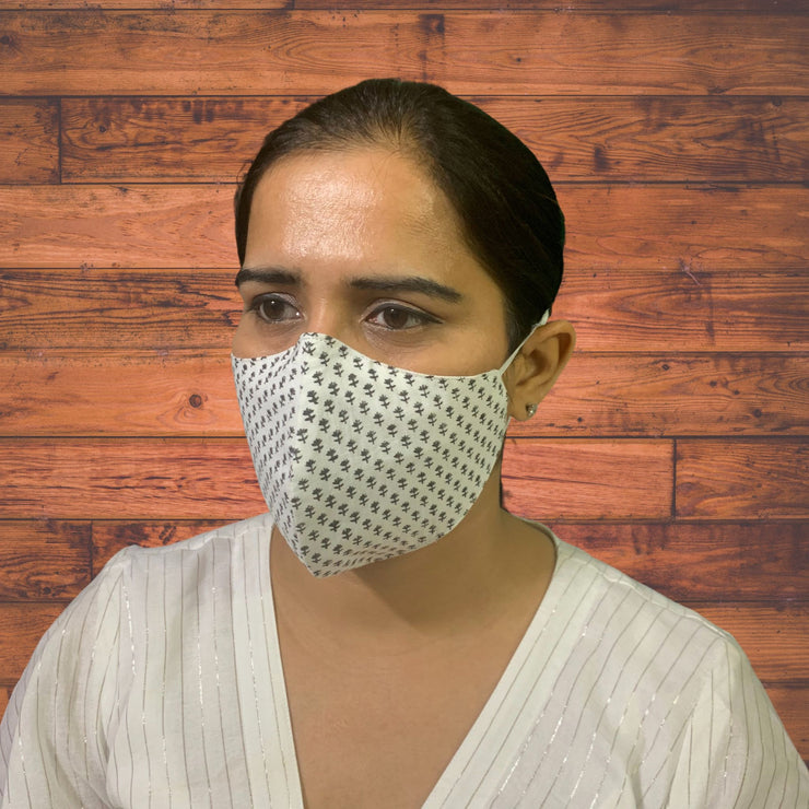 Summer Hand-block Face Masks - Pack of 3