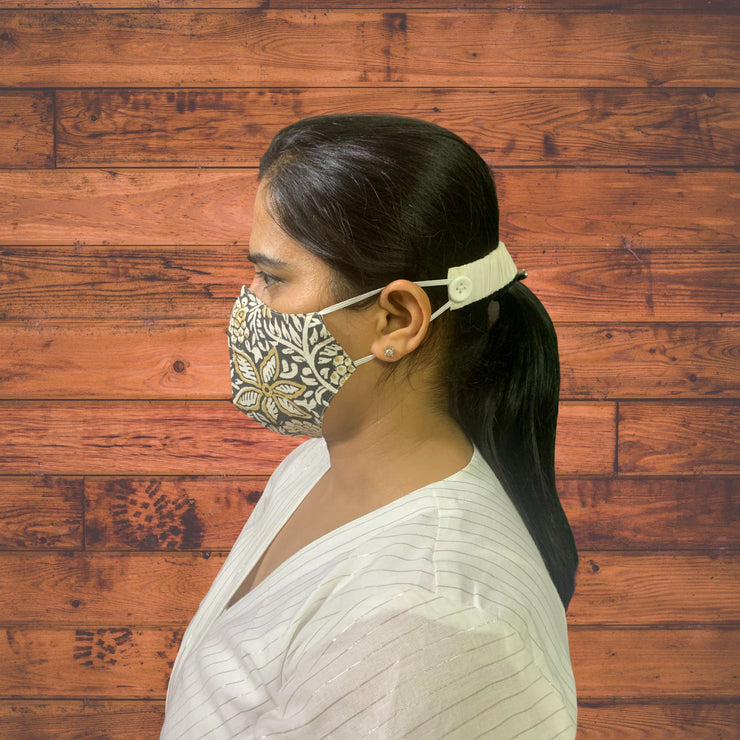 Jaipuri Handblock Face Masks - Pack of 3