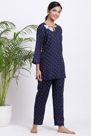 Polka dot comfort set women