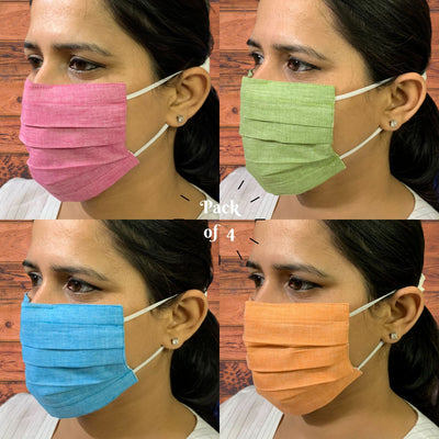 Cotton Face Mask with Ear Saver