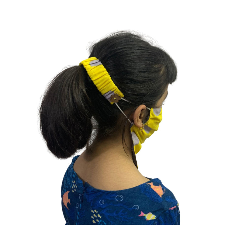 Bandana face cover with ear saver for kids