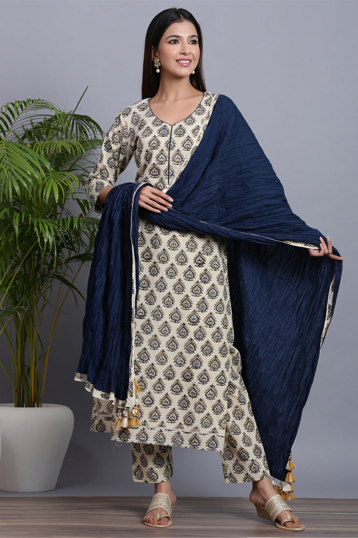 Gillori Suit Set with Dupatta