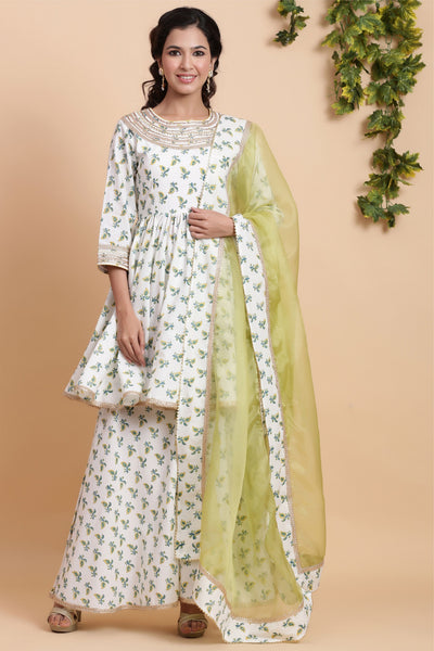 Gillori festive garara dress with dupatta women