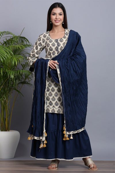 Gillori Kurta Sharara set with dupatta